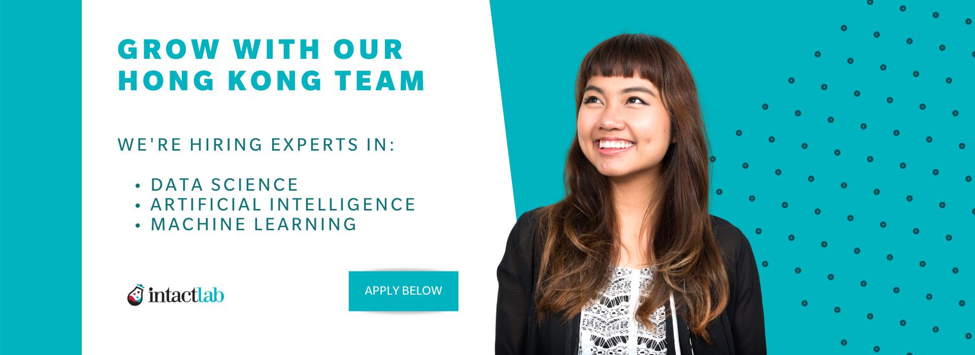 Intact Lab Hong Kong - We are hiring