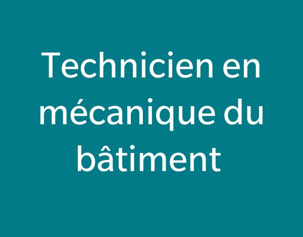 Technicien en mécanique du bâtiment