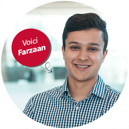 Voici Farzaan - influenceur sur le campus
