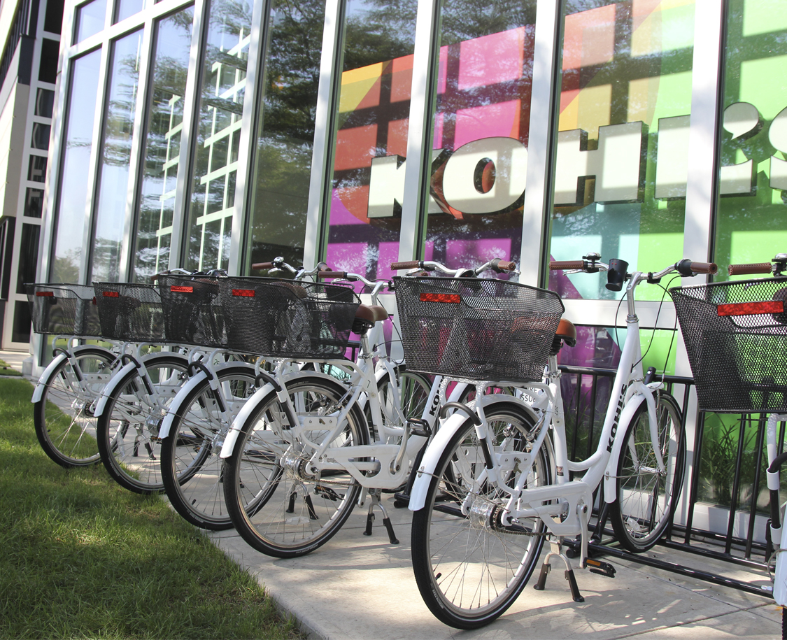 Bicycles at Corporate Office