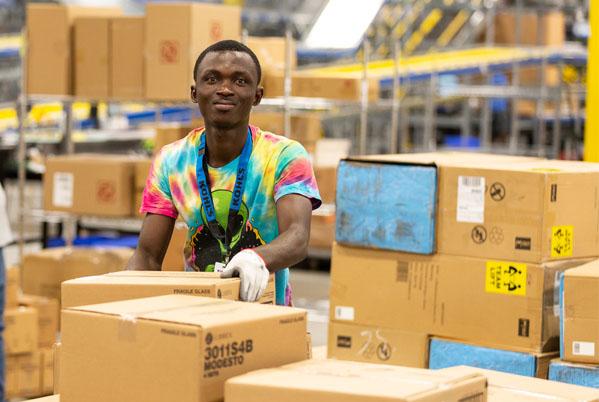 Material Handler in Distribution Center