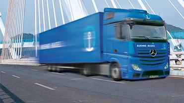 Freightforwarding truck