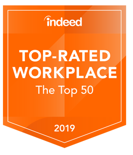 Indeed Top Rated Workplace Badge