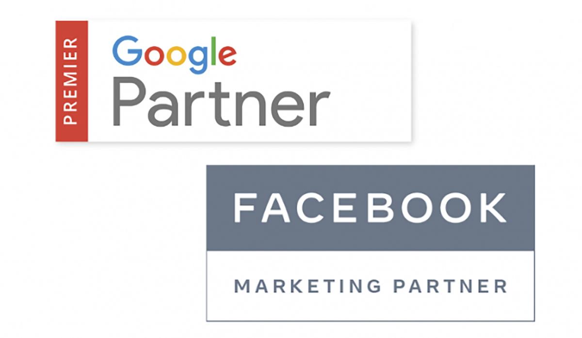picture of Google Partner and Facebook Marketing Partner recognition