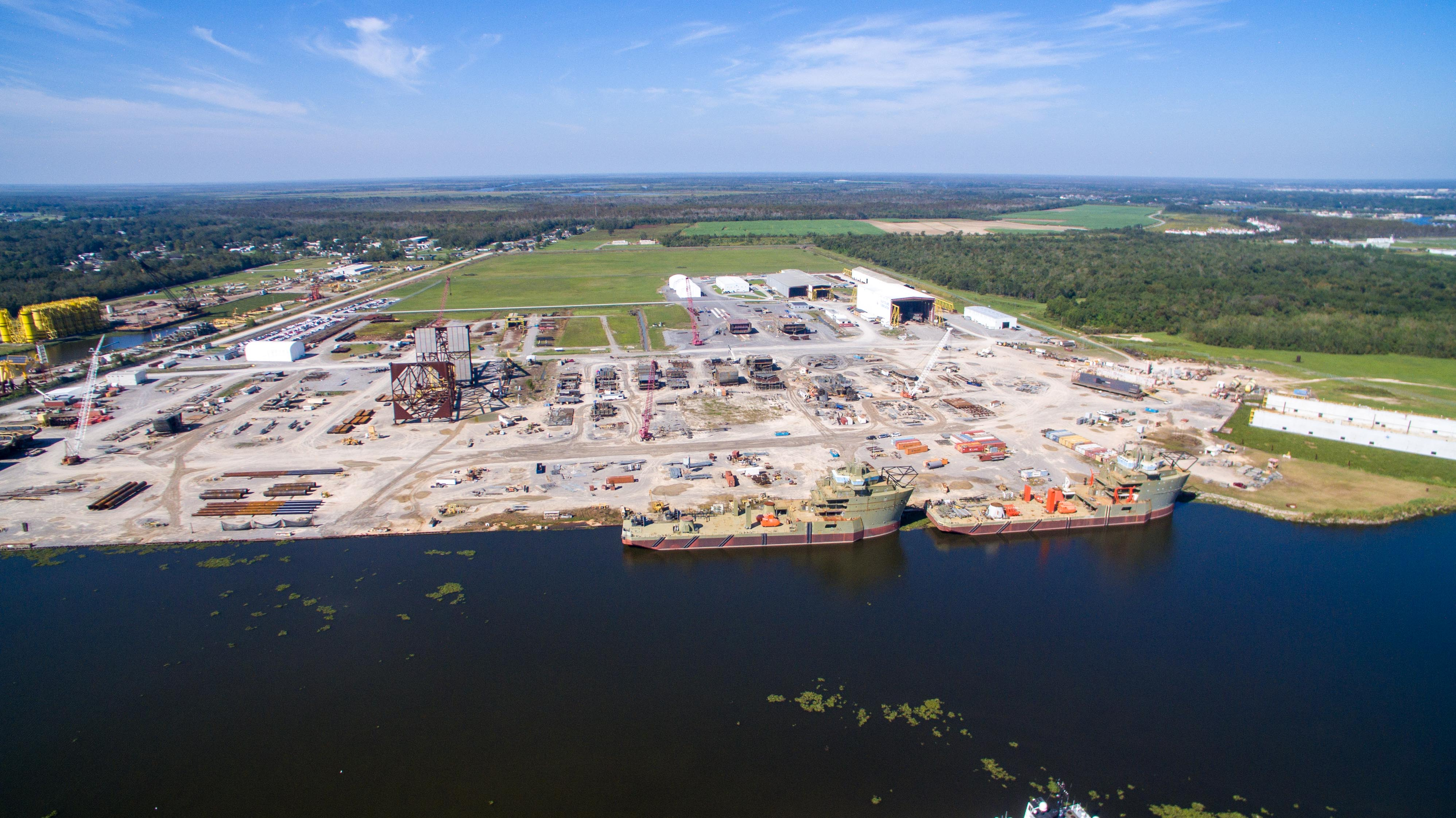 Aerial Photography of the Gulf Island Fabrication Facility