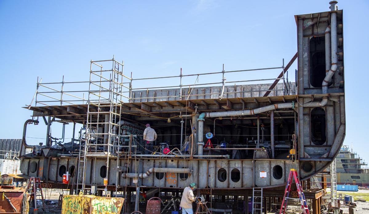 Gulf Island Fabrication ship modification