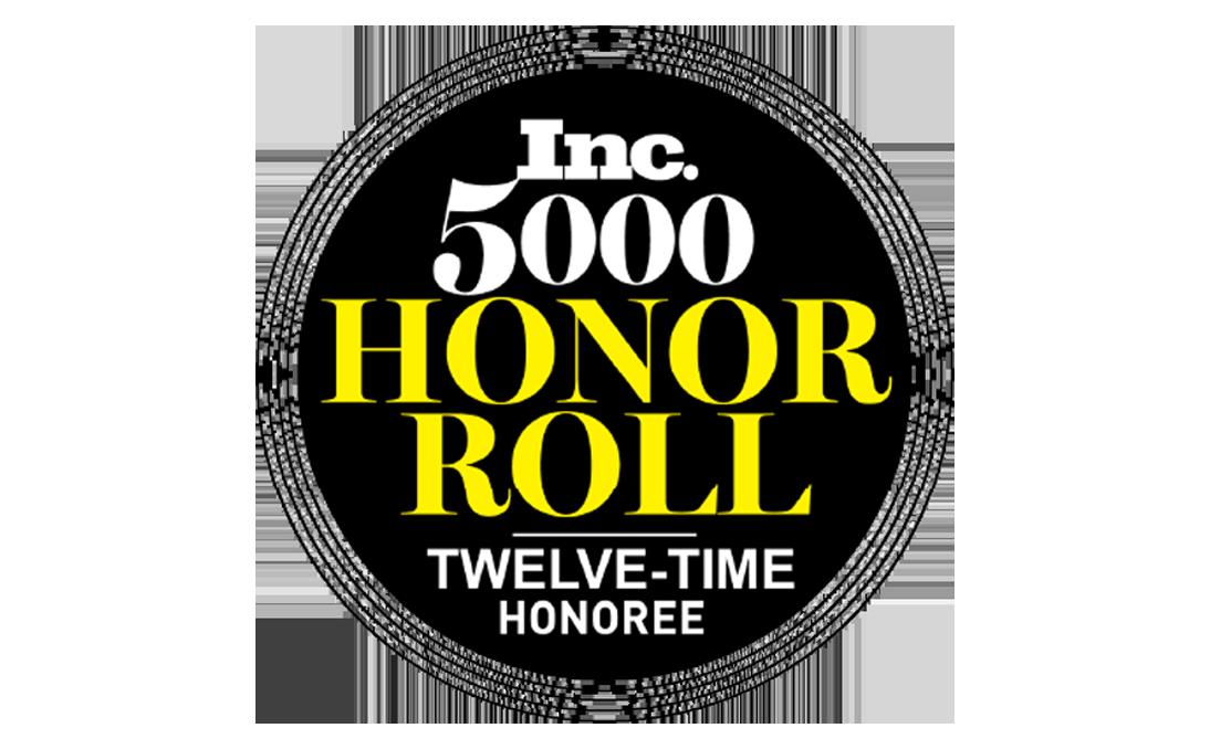 Inc. 5000 Honor Roll twelve-time honoree Award