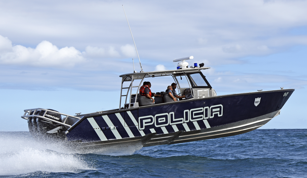 picture of a Puerto Rico Police boat