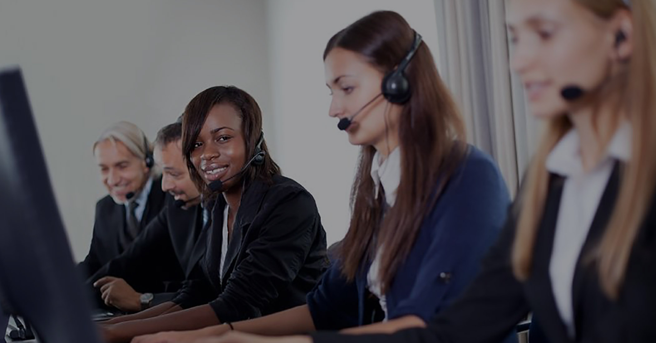 Picture of Young Williams call center employees