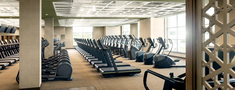 Rows of Treadmills