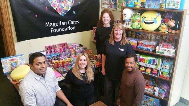 Magellan employees working with the Magellan Cares Foundation