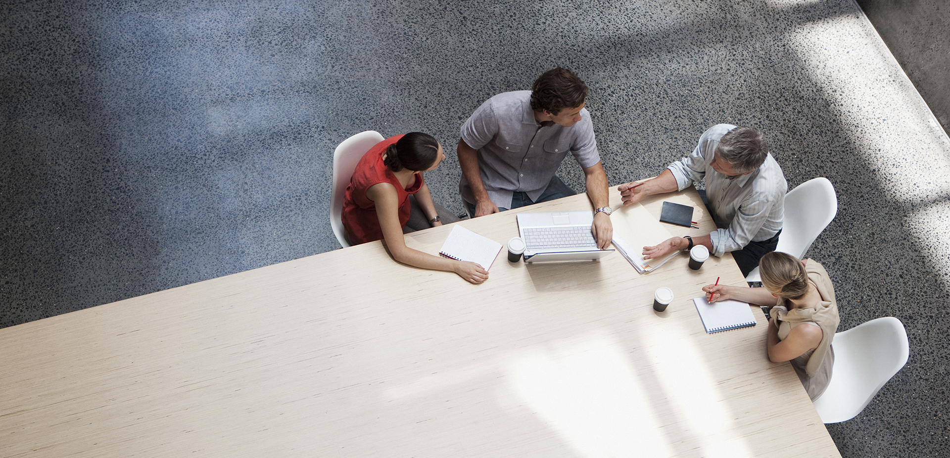 professionals collaborating at a table