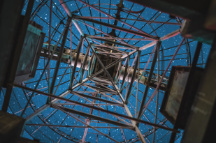 video of radio tower from underneath