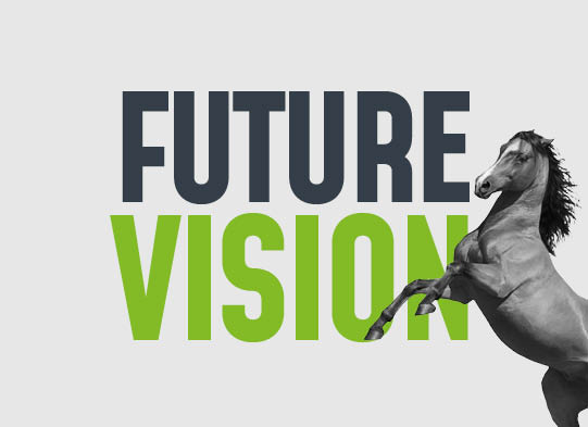 wild horse with the wording future vision