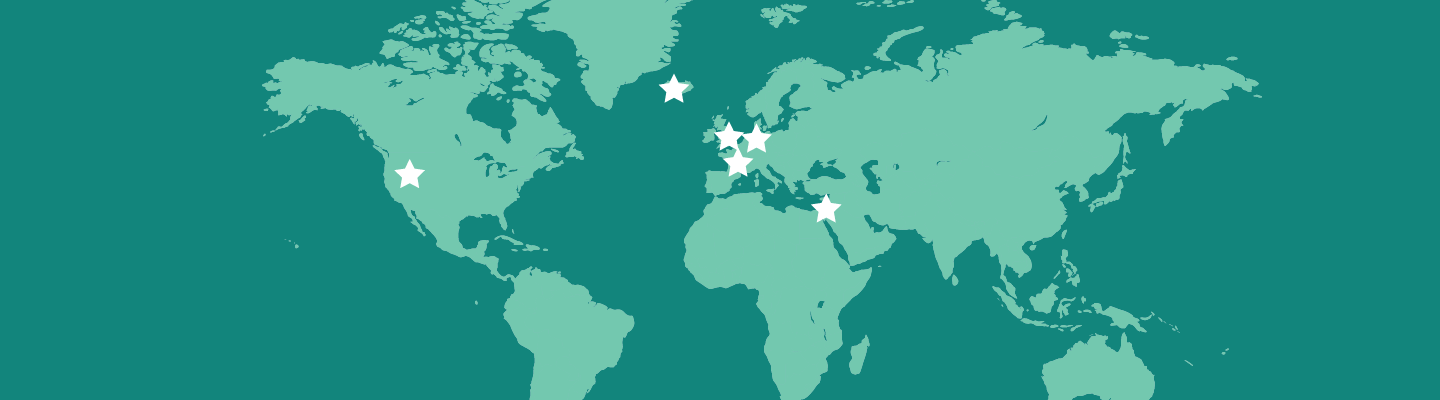 Map of Animal Health Intelligence Tech Labs locations around the world