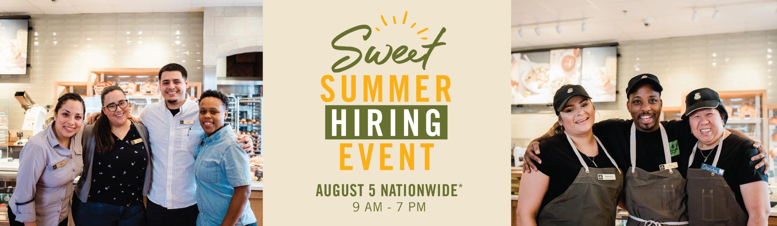 Sweet Summer Hiring Event