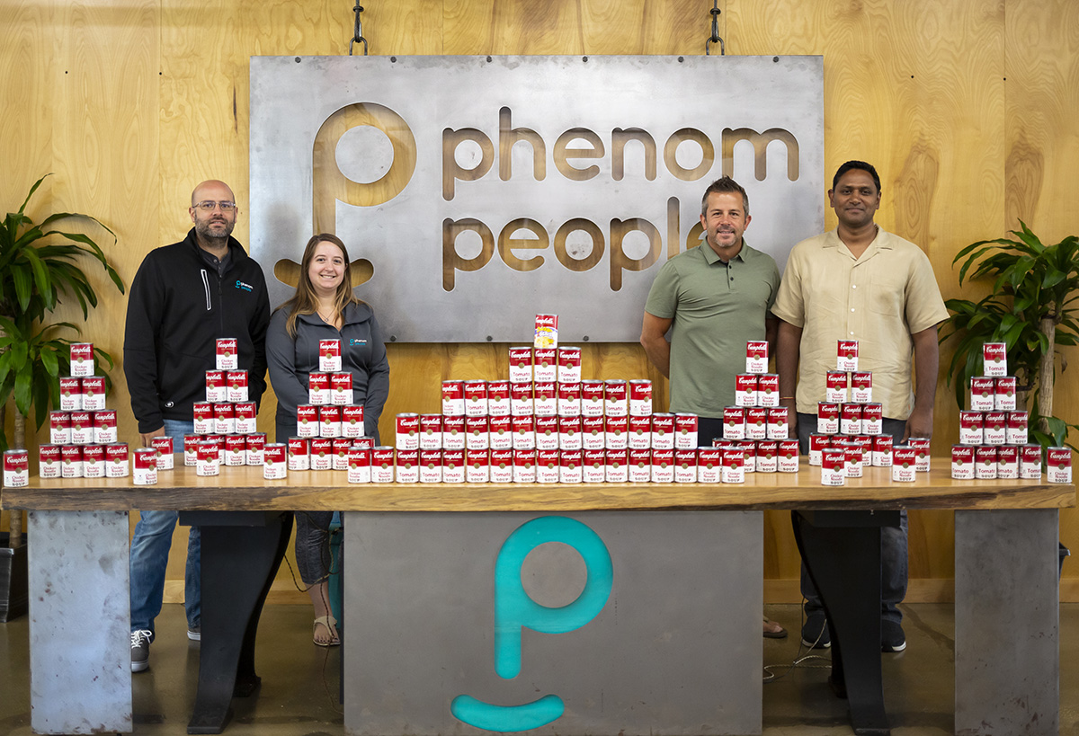 Phenom employees with soup