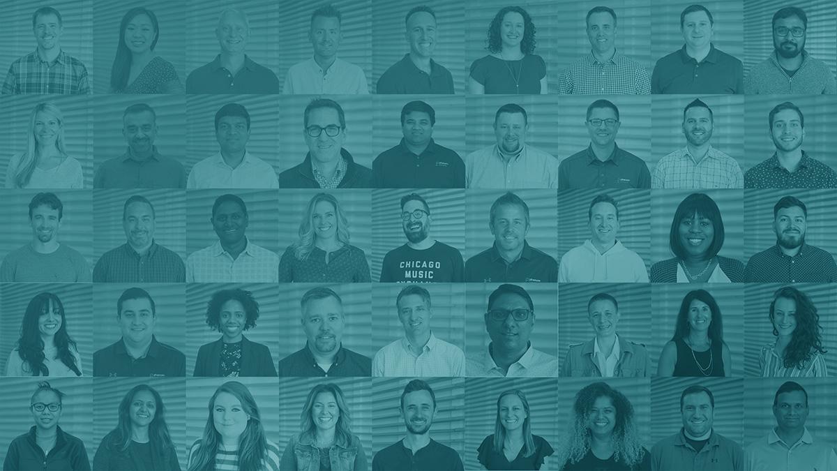 Employee headshot collage