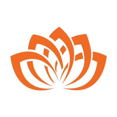 image of orange lotus flower graphic