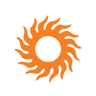 Graphic image of orange sun