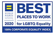 Best Places to Work for LGBTQ Equality Human Rights Campaign 2020 badge