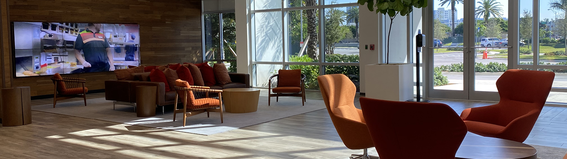 Lobby of Miami office - lounge area, front desk