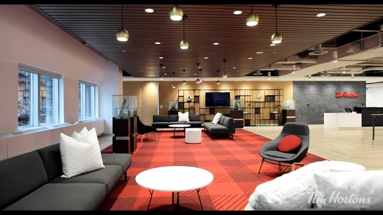 Lobby of Toronto office - lounge area, front desk