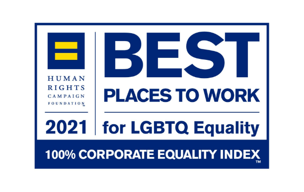RBI's image showing their best places to work for LGBTQ Corporate Equality Index