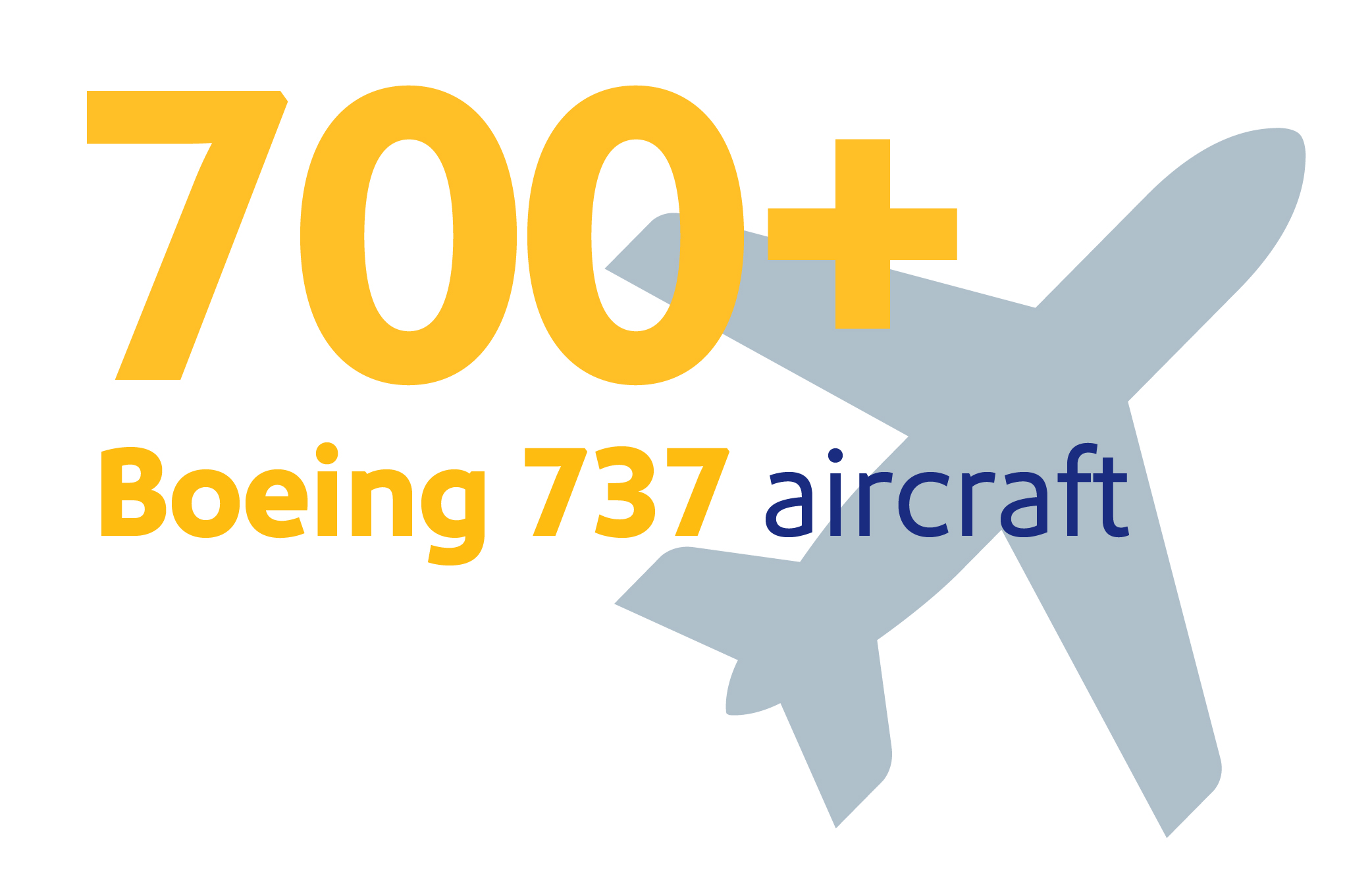 """Image that reads, """"Largest Boeing fleet in the world with over 750 Boeing 737 aircraft"""""""