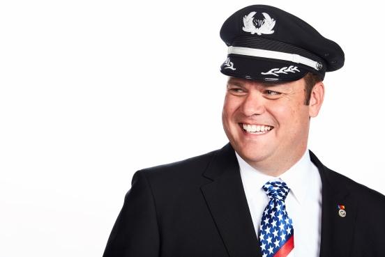 Southwest Captain smiling