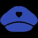 Airplane Pilot hat icon