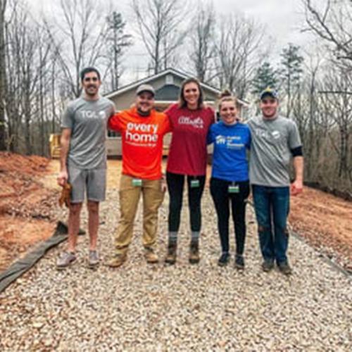 TQL Employees Volunteering with Habitat for Humanity