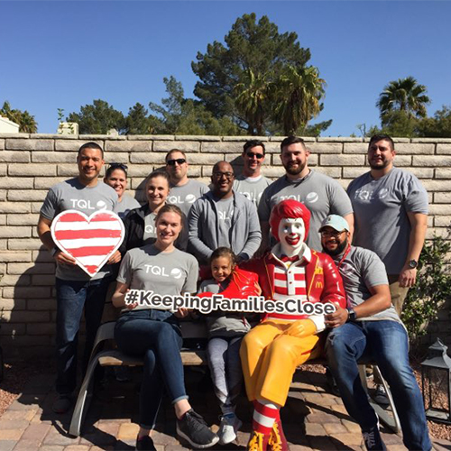 TQL Employees Volunteering with Ronald McDonald House