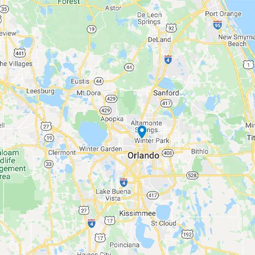 Map of Orlando, FL