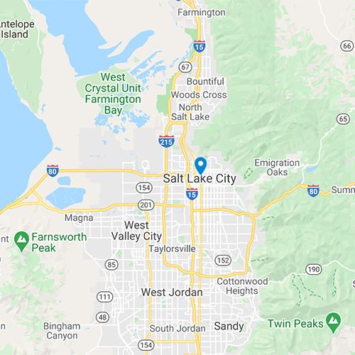 Map of SLC, UT