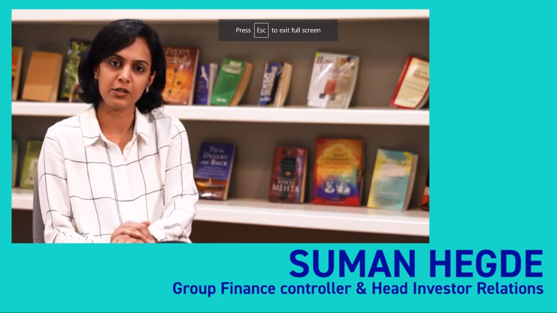 Suman Hegde Group Finance Controller & Head Investor Relations