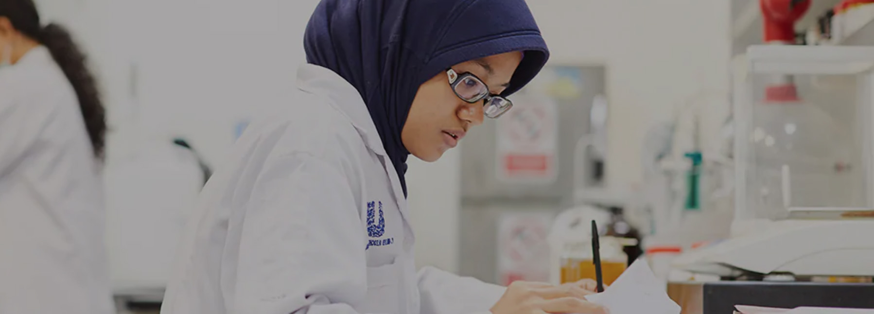 Diversity and Inclusion photo showing lady working in a laboratory