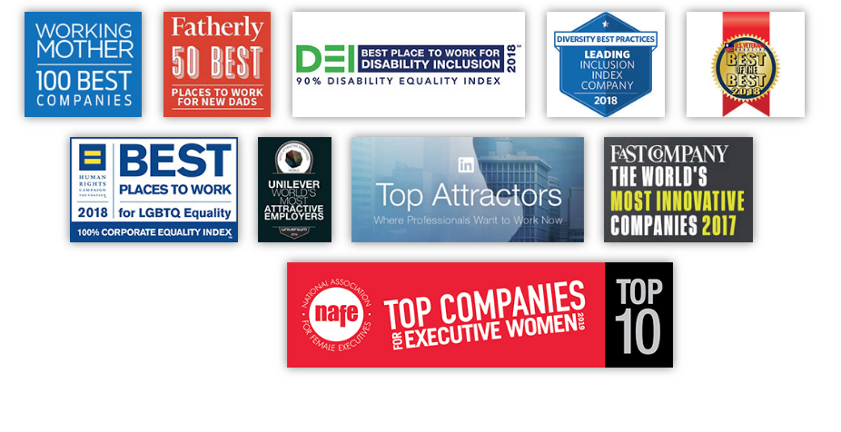 Our awards - logos showing diversity and inclusion awards