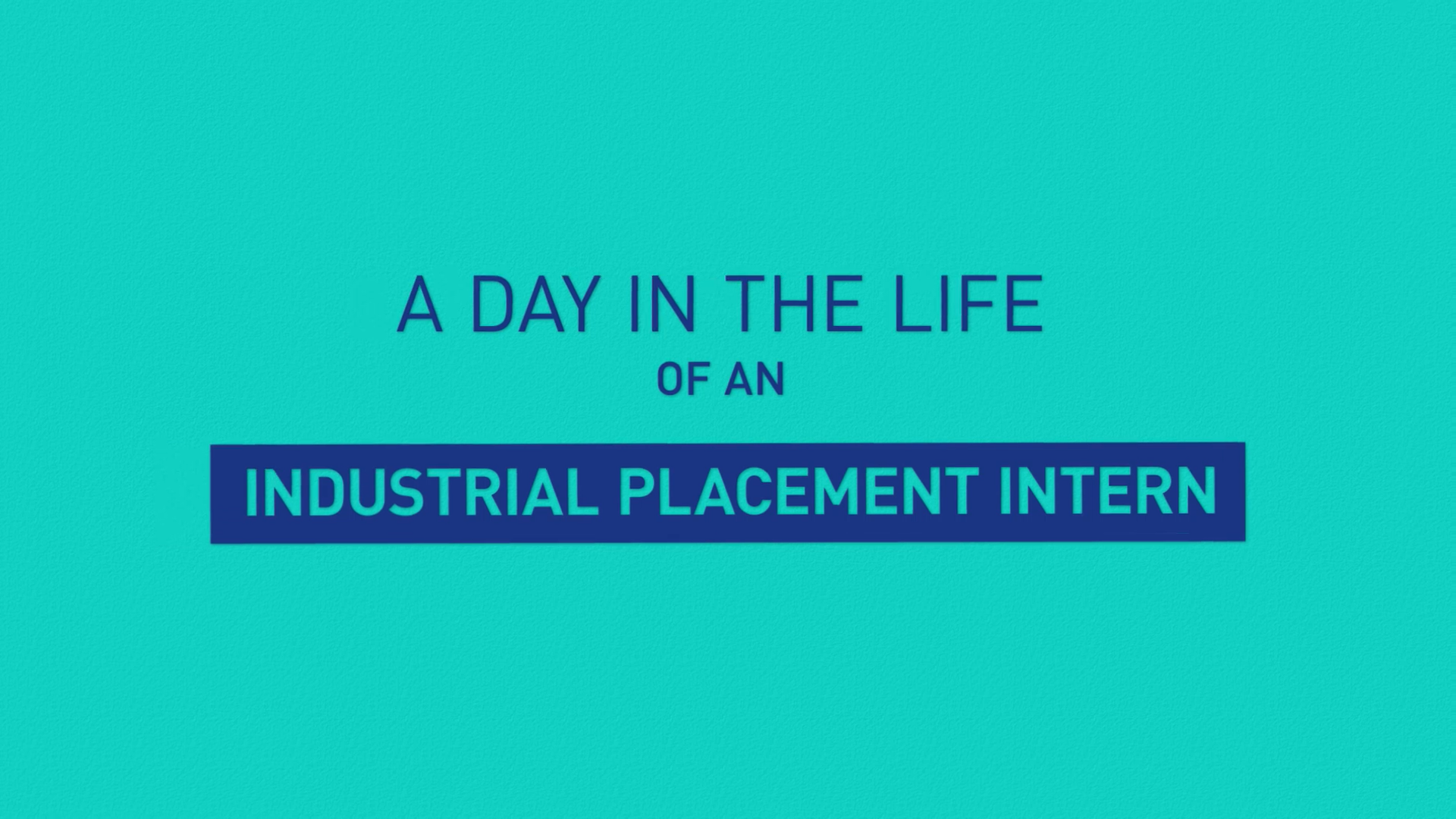 A day of Industrial placement intern
