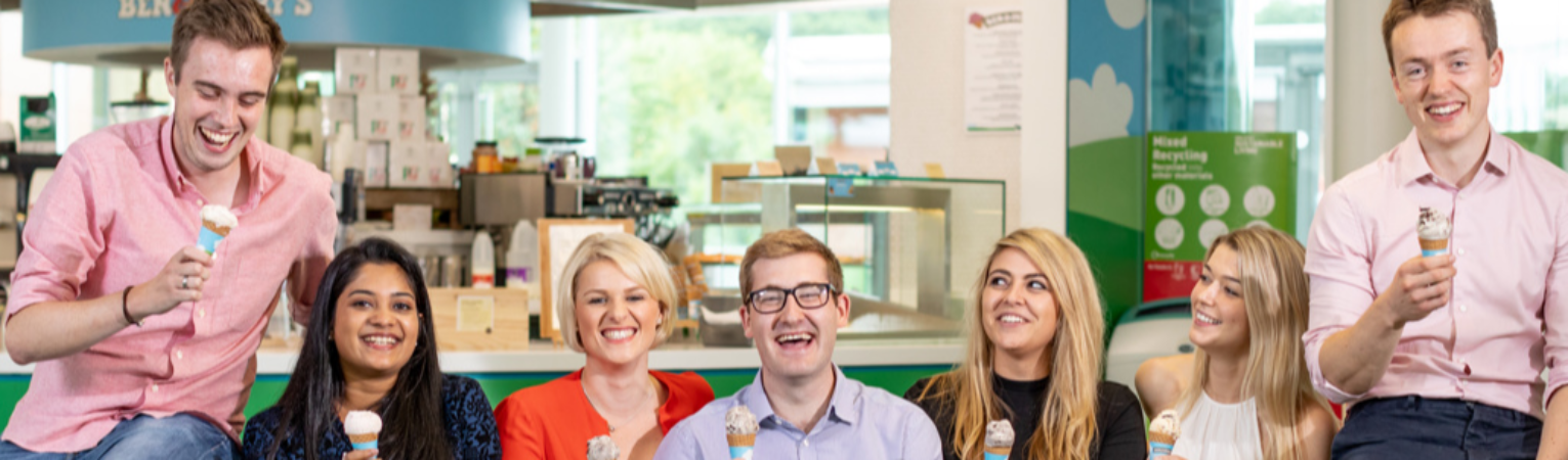 UK/I Graduates at Leatherhead Office in Ben &Jerry;s Cafe.